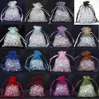 30/100Pcs Organza Wedding Party Favor Decoration Gift Candy Sheer Bags Pouches