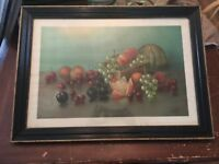 Antique 1895 Autocrats Of The Breakfast Table Framed Fruit Print by LeRoy