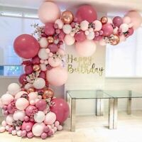 US! Pink Gold Latex Balloons Arch Garland Kit Wedding Birthday Party Baby Shower