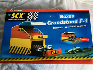 SCX 88260 Pit Boxes Grandstand F1 Building Boxed Near Mint Spanish Scalextric