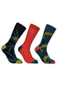 Mens Wild Feet Novelty Lizard Socks 3 Pair Pack 7-11