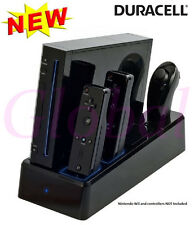 Nintendo Wii Twin Controller Charge Dock Charging Stand + 2 Battery Packs inc