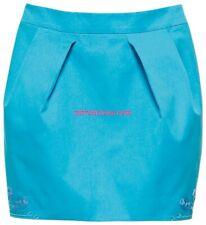 DESIGNER MATTHEW WILLIAMSON H&M BLUE COTTON PAISLEY BOHO MINI SKIRT XS UK 8 BNWT