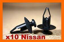 10 Nissan Parachoques Fascia panel de terminación Forro De Fender Clips Sujetador de cubierta