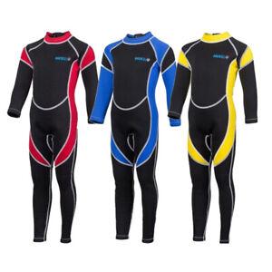 Kids Wetsuit Full Length Warm 2.5mm Neoprene Childrens Suit Full Body Age 5-14
