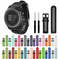 New For Garmin Fenix 3/HR Watch Band Soft Silicone Strap Replacement With Tools