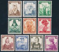 DR 1935, MiNr. 588-597, 588-97, tadellos postfrisch, Mi. 180,-