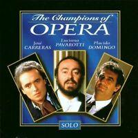 Champions of Opera-Solo Jose Carreras, Luciano Pavarotti, Placido Domingo [CD]