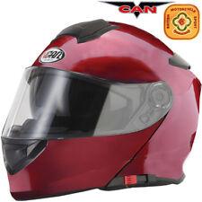 Vcan V271 DVS Flip Up ACU Motorbike Motorcycle Helmet Scooter Burgundy Pinlock