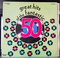 Great Hits Of The Fantastic 50's Volume 1, various, compilation - double LP