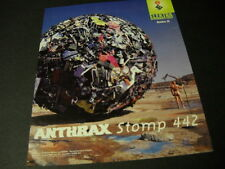 ANTHRAX 1995 Promo Poster Ad for STOMP 442 big ball of junk/naked man MINT COND