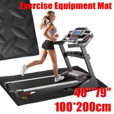 200x100cm Black  EVA Exercise Equipment Mat  For Treadmill Bike Protect Floor