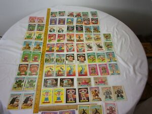 Garbage Pail Kids cards 3rd series lot of 78 near complete cards stickers 1986