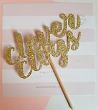 Clever Glogs Gold Glitter Card Cake Topper, passed, congratulations, well done