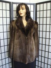 ~EXCELLENT BROWN ARCTIC BEAVER FUR JACKET COAT WOMEN WOMAN SZE 8-10 MEDIUM