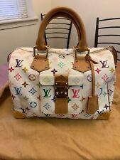 Louis Vuitton Authentic Pre-Owned Monogram Multicolor Speedy 30 Bag In White
