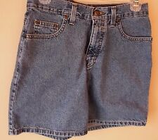 Eddie Bauer Denim Blue Flat Front 100% Cotton Shorts Size 6 EUC