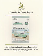Bequia (2161) - 1987 Cars #7 Hudson Hornet imperf on Format Int PROOF  CARD