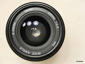 Vivitar 28mm f/2.8 wide angle lens Pentax K - A/R mount