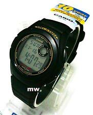 CASIO Digital Multi Alarm LED Light Resin Band Watch F-200W-9A 10 year battery