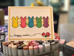 handmade Shaker Card Kit Stampin' Up! Easter Peeps Bunny 🐰