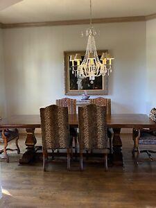 11 Piece Dining Room Set - GORGEOUS - Custom Made - Seats 10