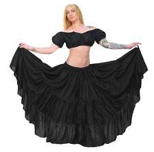 RENAISSANCE DRESS-UP PIRATE WENCH COSTUME BELLY DANCE TRIBAL RUFFLE SKIRT #SkS11