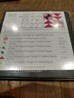 """Accuquilt GO! Half Square Tri 1"""" finished  Die -NEW SEALED 55765 QUILTING"""