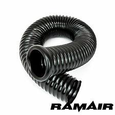 Ramair 76mm ID x 1m - PVC Negro Frío Aire Alimentar conductos toma con 1 Tapón