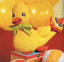 """Baby Duck. 10"""". Lavoro a Maglia Motivo in Dk. Natale Stocking Filler, giocattolo. Natale."""