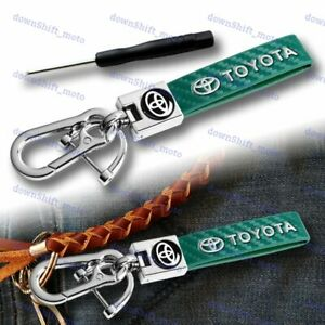 For TOYOTA SUPRA COROLLA Gift Leather Keychain Lanyard Quick Release Key Chain