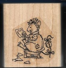 CREATIVE MOUSE ART Create Love FRIENDSHIP Gift Card STAMPIN' UP! RUBBER STAMP