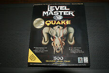 Original Quake CD w/ Quake Level Master V Unofficial Add-On 500 levels Complete