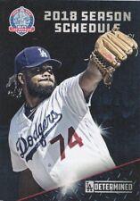 Los Angeles Dodgers MLB Mini Pocket Schedule 2018 60th Anniversary Kenley Jansen
