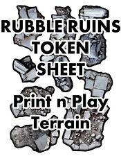 Rubble & Ruins Token Sheet, DIGITAL DOWNLOAD D&D RPG Dragons Dnd Pathfinder d20