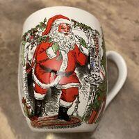 Fitz And Floyd  Vintage Holiday Santa Claus Christmas Coffee -Tea Holiday Mug