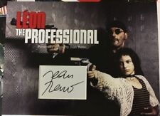 Leon 'Jean Reno' signed photo mount display