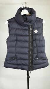 Womens Authentic Moncler LABAS GILET Navy Down Body Warmer Puffer size  2 UK 12