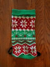 """Pet Boutique Dog Puppy Sweater Size S (12"""" Length Red and Green Snowflake"""