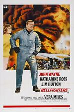 Hellfighters John Wayne vintage movie poster print