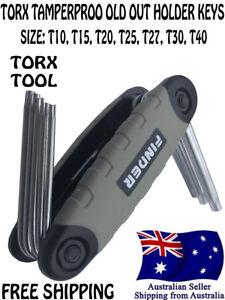 Folding torx star Key Set Allen tools Wrench screwdriver bit tool T10-T40 7IN1