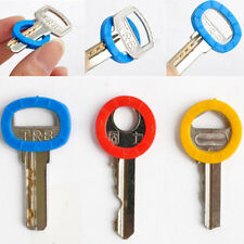 8PC Silicone Key Cap Bright Colors Hollow Covers Topper Keyring With Bly Braille