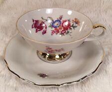 Vintage BAVARIA JOHANN SELTMANN VOHENSTRAUSS Tea Cup & Saucer #84