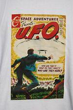 graphic retro art vintage Mens Cotton T Shirt , S,M,L,XL , UFO Space Adventures