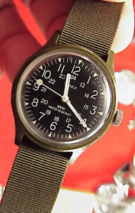 Vintage Timex #2 Camper Military Style WINDUP MacGuyver WristWatch 1980s RUNNING