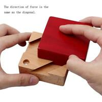 Novelty Wooden Magic Box Puzzle Toy For Kids Adults Brain Teaser Game KV
