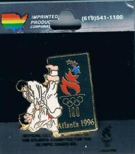 1996 Atlanta Limited Edition Large Semi-Cloisonne Olympic Judo Sports Pin