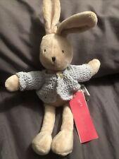 Sweet Zara Home Kids Bunny In Blue Jacket W/ Tags - New