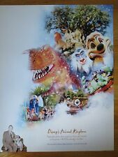 2003 Walt Disney World 100 Years of Magic Celebration ANIMAL Poster MICKEY MOUSE