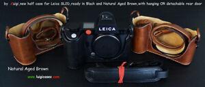 LUIGI PREMIUM CASE for LEICA SL2-D,STRAP,BATTERY SLOTS+UPS INCL,pls SELECT COLOR